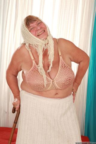 bbw grandma white headscarf