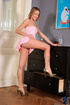 under her tight pink