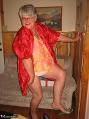 admirable elderly blonde with