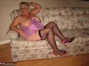 splendid elderly platinum blonde