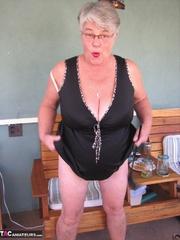 seductive elderly platinum blonde