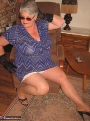 lavish elderly curvy blonde