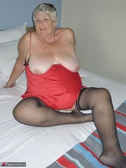 stunning elderly blonde with