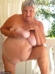 foxy elderly platinum blonde