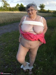 charming elderly blonde with