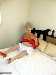 pleasing elderly blonde with