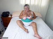 captivating elderly curvy blonde