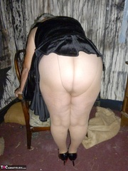 well-formed elderly blonde with