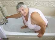 showy elderly curvy blonde
