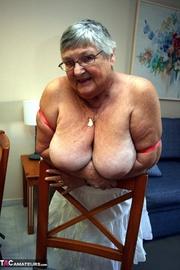 good-looking blonde granny bright