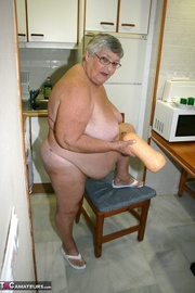 tempting platinum blonde grandma