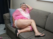 well-formed elderly blonde white