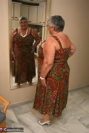 elegant platinum blonde grandma