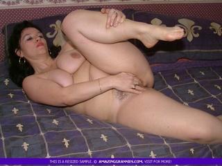 fat granny lays naked