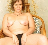 Gorgeous teases with her hot breasts and fat body before she peels off