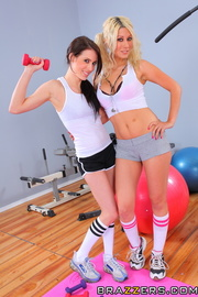 lesbian workout session the