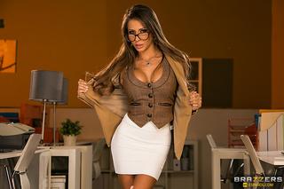 glamorous secretary glasses fucked