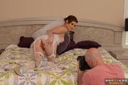 skinny long-legged bride cheating