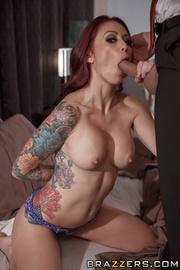 tattooed redhead mom with