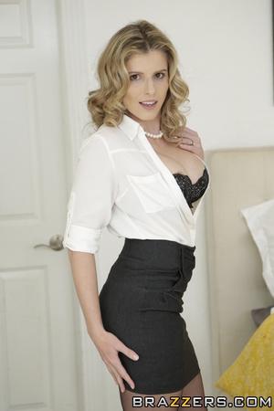Sexy blonde tight white shirt, hardcore scene porn