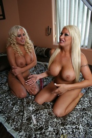 two lesian blonde bitches