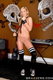 blonde minx black stockings