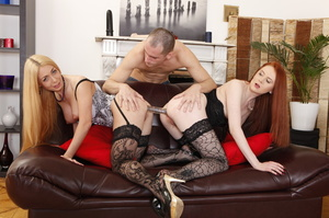 Straddled by a ginger, this blonde takes - XXX Dessert - Picture 12