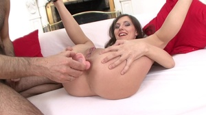 Her shaved pussy is exposed, as she rode - XXX Dessert - Picture 5