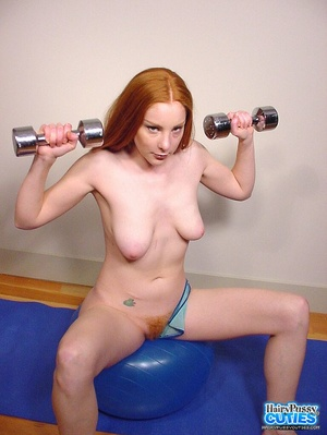 Tempting nude redhead with sexy floppy t - XXX Dessert - Picture 1
