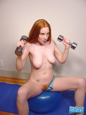 Tempting nude redhead with sexy floppy t - XXX Dessert - Picture 2