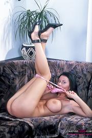 black heeled milf with
