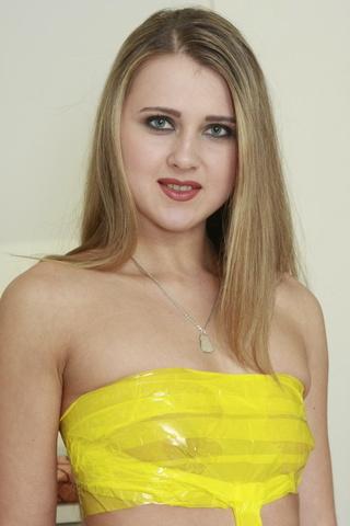 dressed yellow blonde slut