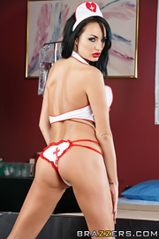 raven haired nurse with