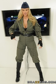 naughty blonde army chick