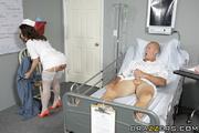 naughty brunette nurse white