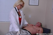 blonde mature doctor red