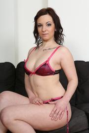 slightly chubby brunette pink