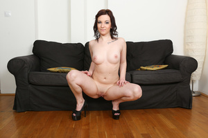 Slightly chubby brunette in pink lingeri - XXX Dessert - Picture 10