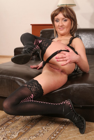 Mature brunette in a bodysuit gets gang- - XXX Dessert - Picture 6