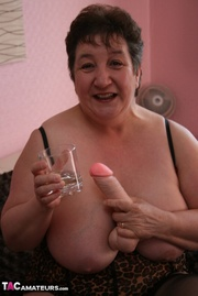 bbw granny black and