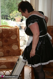 granny maid displays her