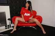 gorgeous hottie pose red