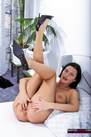 black haired milf with