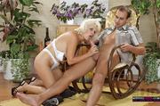 blonde white underwear and