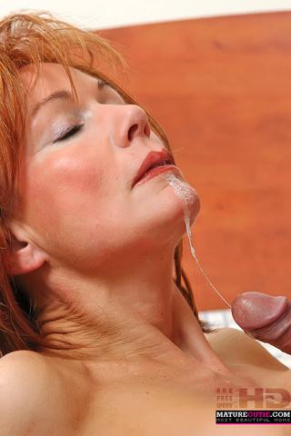 mature redhead big breast