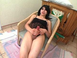 big-butt transsexual brunette anally