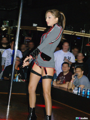 sexy stripper peels off