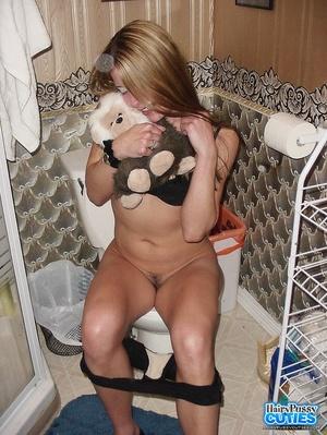 Slender body brunette posing nude on the - XXX Dessert - Picture 12