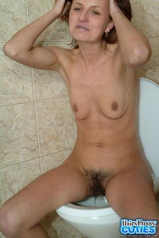 brunette milf small boobies