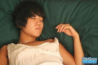 sleeping asian black hair